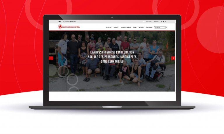 Ordinateur avec visuel du nouveau site